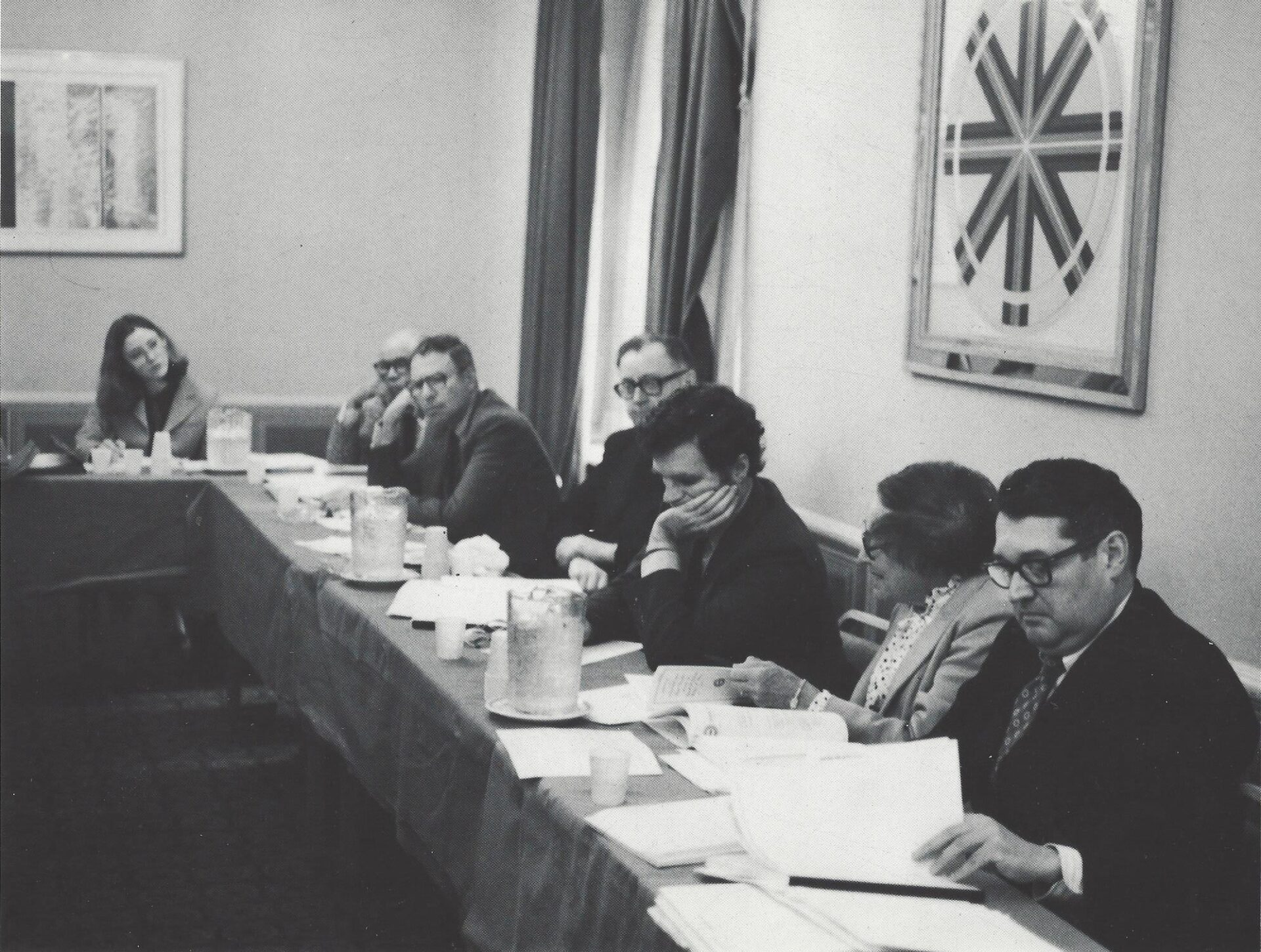 PRB Board Members and Staff at Hearing, 1980s